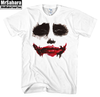 Personalized Man Print T Shirt Batman Joker Face Round Neck Man Casual Short Sleeve Summer Fashion