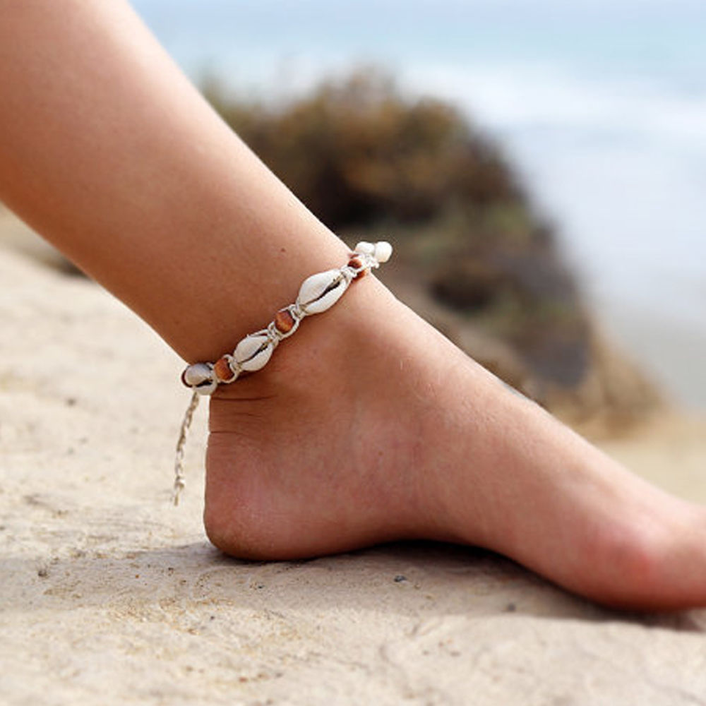 Bohemian Shell Ankle Bracelet Women Foot Jewelry Summer Beach