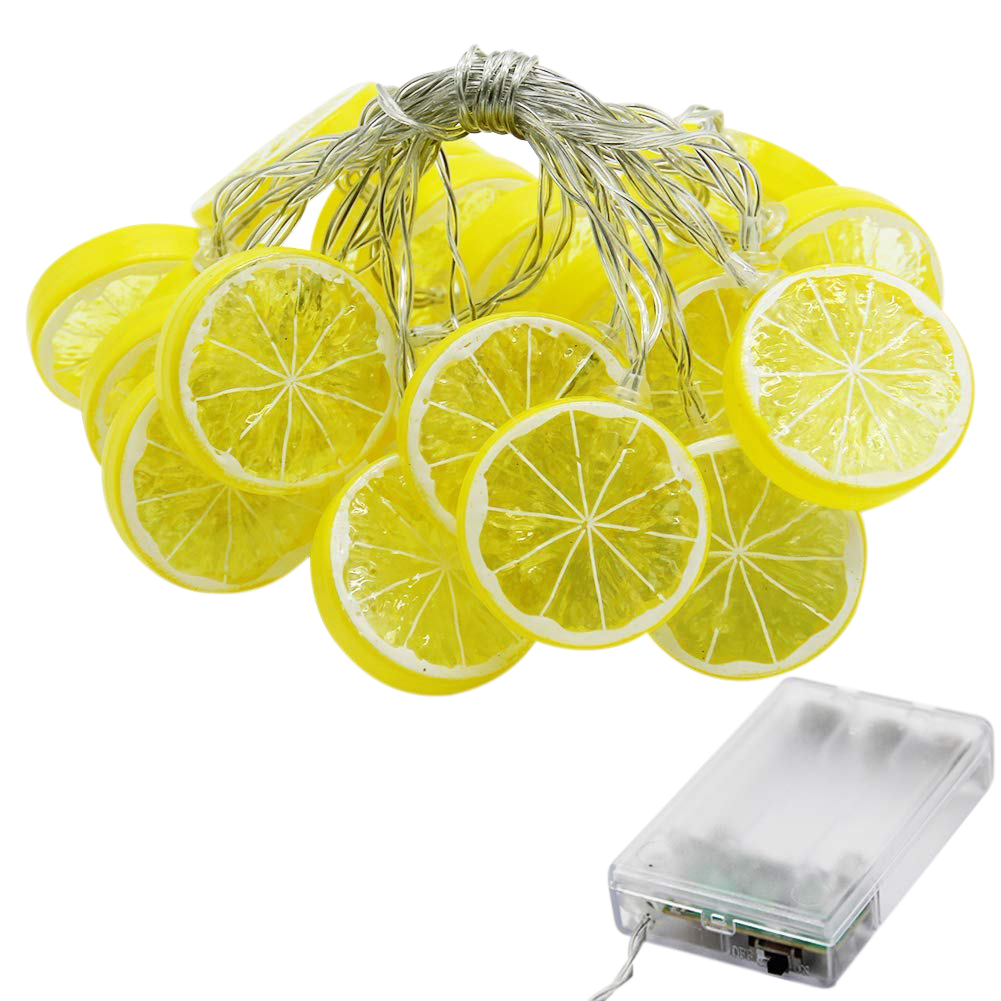 Brand New Star 20 LED 10.3 Ft Lemon String Lights Battery Operated For Indoor Wedding Party Christmas Tree Bedroom Decoration, W
