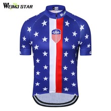 cc98a6ec2 2018 Cycling Jersey USA Flag Mtb Bicycle Clothing Men Women Bike Wear  Clothes Short Sleeve Maillot