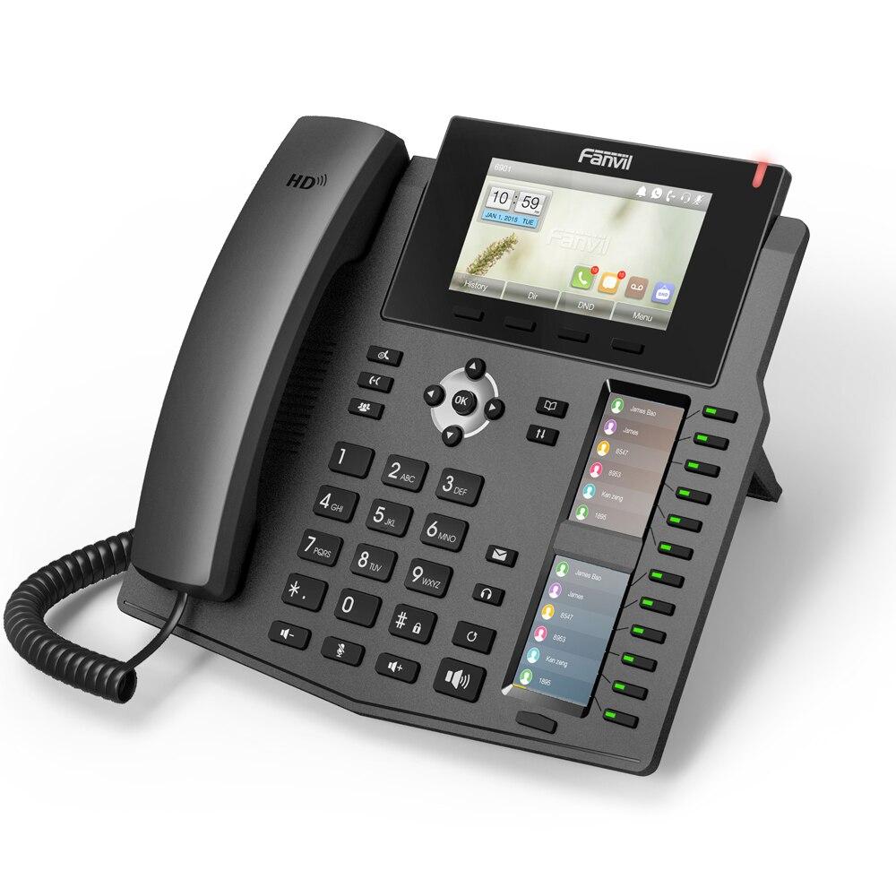 High-end-desktop-telefon Fanvil X6 Unternehmen Ip Telefon Mit 2 Intelligente Dss Schlüssel-mapping 6sip Linien Hd Stimme Poe Aktiviert Kopfhörer