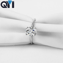 QYI Ring for Women 1.25 ct Oval Cut 925 Sterling Silver Jewelry Women Engagement Jewelry Shining Zircon Wedding Rings Gift