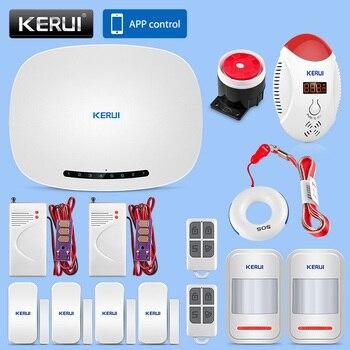KERUI Alarme de Segurança GSM Casa Sistema de Alarme de Segurança de Negócios Prompt de Voz Discagem Automática Sem Fio do Sensor de Alarme de Detecção De Gás