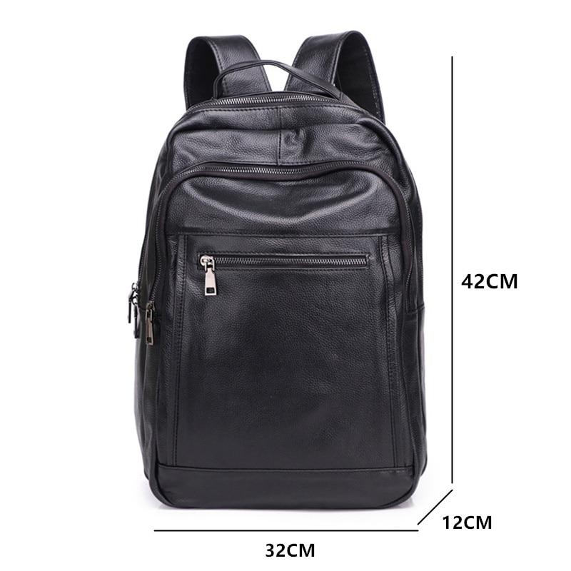 Mochila De Cuero BOSTANTEN mochilas de viaje grandes para hombre mochila de negocios 13 14 15 pulgadas para ordenador portátil mochila antirrobo bolsa de ordenador - 2
