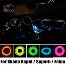 Новейшие DIY EL Провода Для Skoda Rapid/Superb B5 B6 B8/Fabia 5J МГ/Украшение Автомобиля Холодный Свет Лампы Атмосфера/9 М Набор