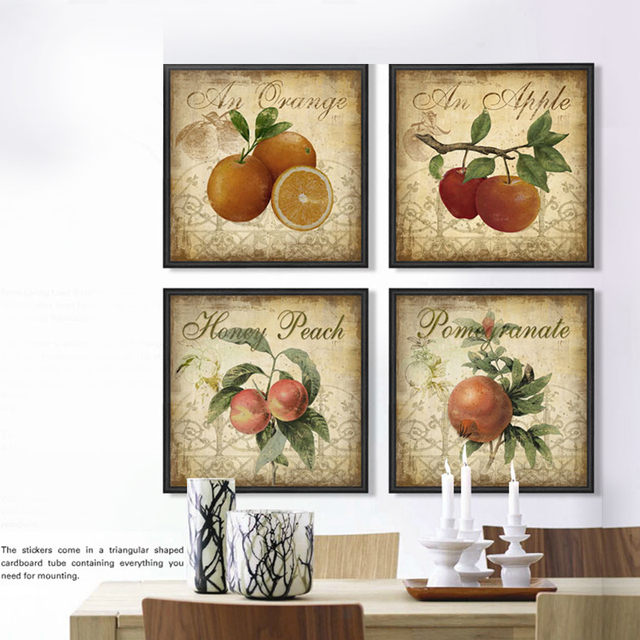 Aliexpress.com : Buy Kitchen decor fruit apple 4 piece ...