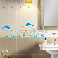 Free Shipping Wall Stickers Wall Stickers Wall Painting Pvc Wall Stickers Dolphin Bathroom
