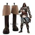 Assassins Creed 4 Bandera Negro Edward Kenway James Botas Zapatos de Fiesta Cosplay Por Encargo