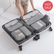 Packing Cube Travel Bag 7pcs/set Men and Women Luggage Travel Bags Clothing Sorting Organize Bag Wholesale