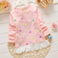 Children's New Style Spring Clothes love Printing Baby Girls Long Sleeve t shirt Tops Kids clothing