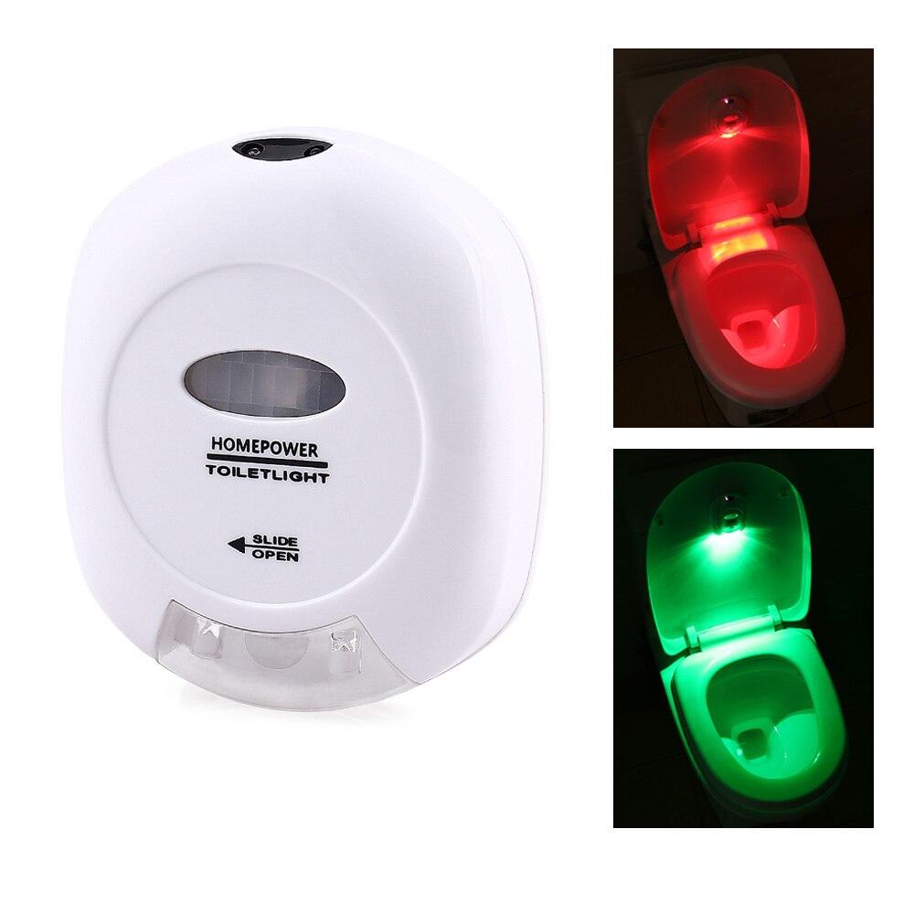 Ledertek New Hot Led Sensor Motion Activated Toilet Light Bathroom Flush Toilet Lamp Battery