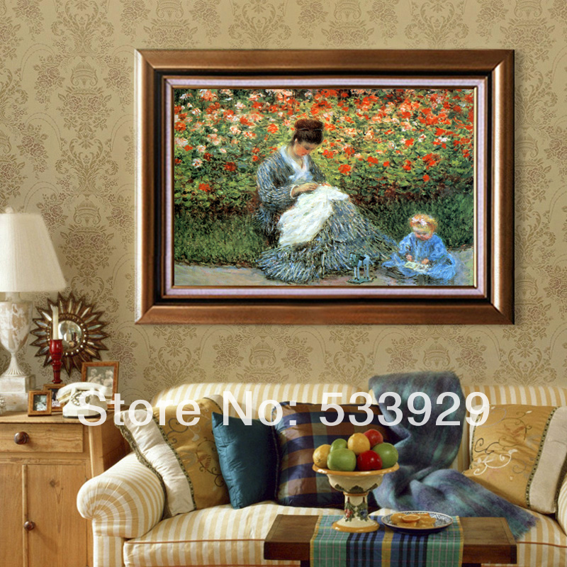 Hand Painted Claude Monet Oil Painting On Canvas Wall Art For Home ...
