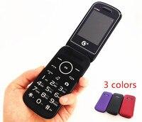 Original lật bàn phím nga dual sim cao cấp giá rẻ điện thoại di động gsm trung quốc Điện Thoại Elder vỏ sò điện thoại Di Động TKEXUN E1190A