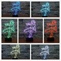Lámpara de super hero the avengers figura de acción negro viuda ilusión visual cuadro 7 color cambiante luz de la noche decoración iluminaciones