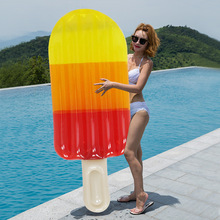180cm Giant Transparent Popsicle Rainbow Ice Cream Inflatable Boat Lie-on Pool Party Float Air Mattress Swimming Ring Toys boia
