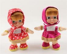 1pc Masha and Bear Singing Talking Dancing Masha Doll Classic Baby Music Stuffed Plush Toys Kids Gift Russia Anime Figure Toys