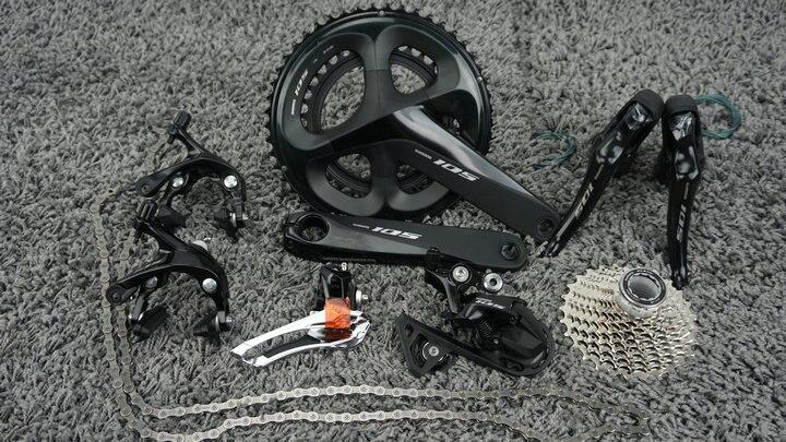 2018 nouveau Shimano 105 R7000 2x11 22 vitesses 50x34 T 53x39 T 170mm 172.5mm Kit de dérailleur de groupe de vélo de route