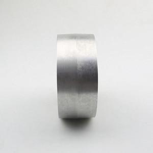 Image 4 - 130*55*19/24mm Voll Aluminium Kontaktieren Rad Aktive rad für gürtel maschine mit Nut