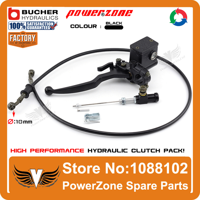 Modify Left Black Hydraulic Clutch System With Master Cylinder Pump + 1200mm Hose Pipe Super Moto Motorcycle Motorcross