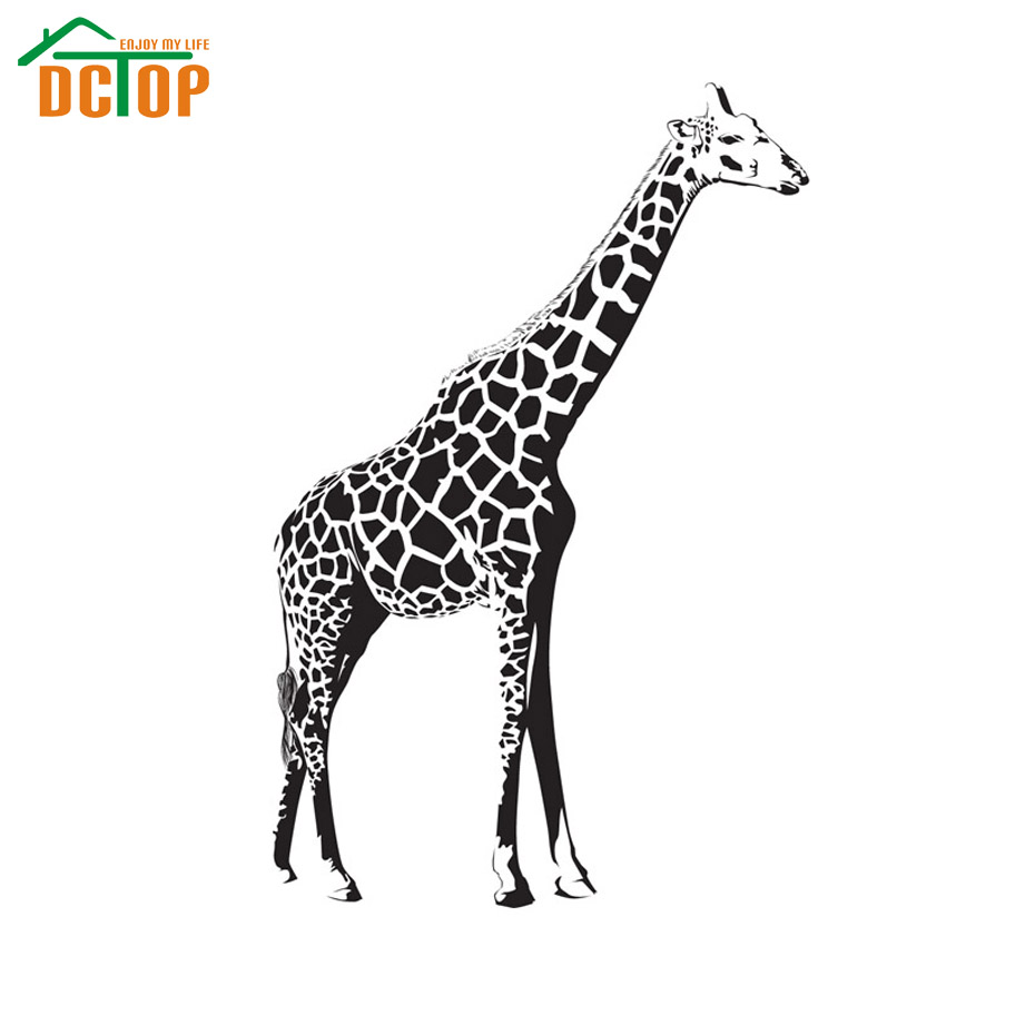DCTOP Giraffe Wall Sticker Nursery Vinyl Removable Home