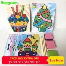 Happyxuan 8 designs Set DIY 3D Paper Crafts Kits for kids Preschool Education Materials Kindergarten Children Creative Toys Girl