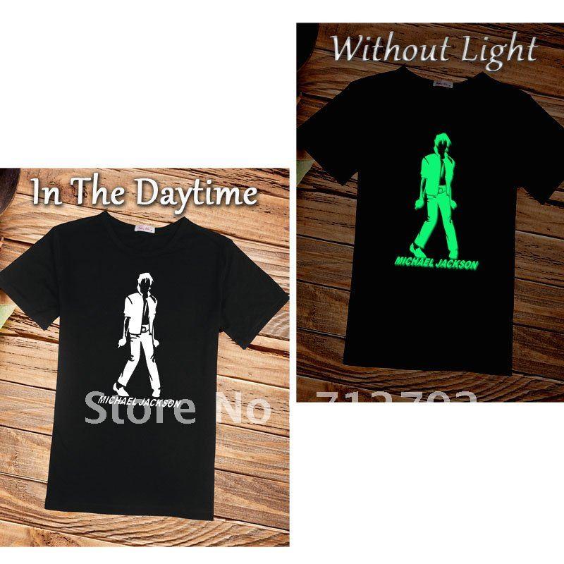 souvenir edition Michael Jackson classic dance O Neck MJ shirt funs hip pop T Shirt Stylish Personal idea luminous T shirt