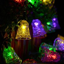4.8M Waterproof 20 LED Holiday String Lights for Christmas Festival Party Fairy Colorful Xmas LED String Lights Bell Shape