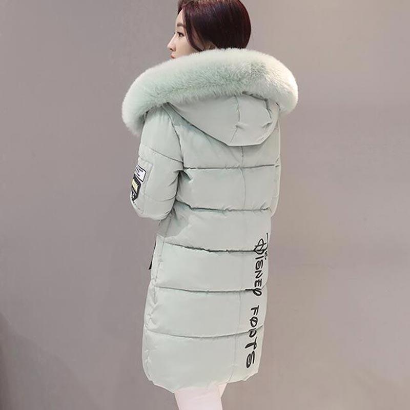Nueva Chaqueta de Invierno Mujeres de la Capa de Cuello de Piel de Moda Caliente