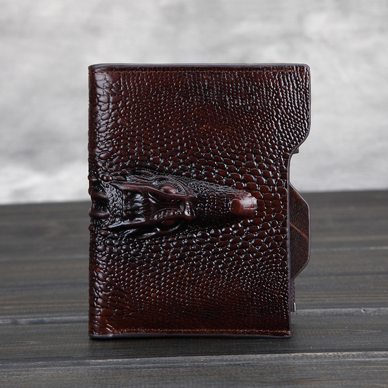 Crazy Horse Leather Men wallets famous brands luxury genuine leather purse high quality fashion money clip brands short wallet pu leather wallet men luxury famous brand designer coffee money clip open clamp clip carteira magica bid083 pm49