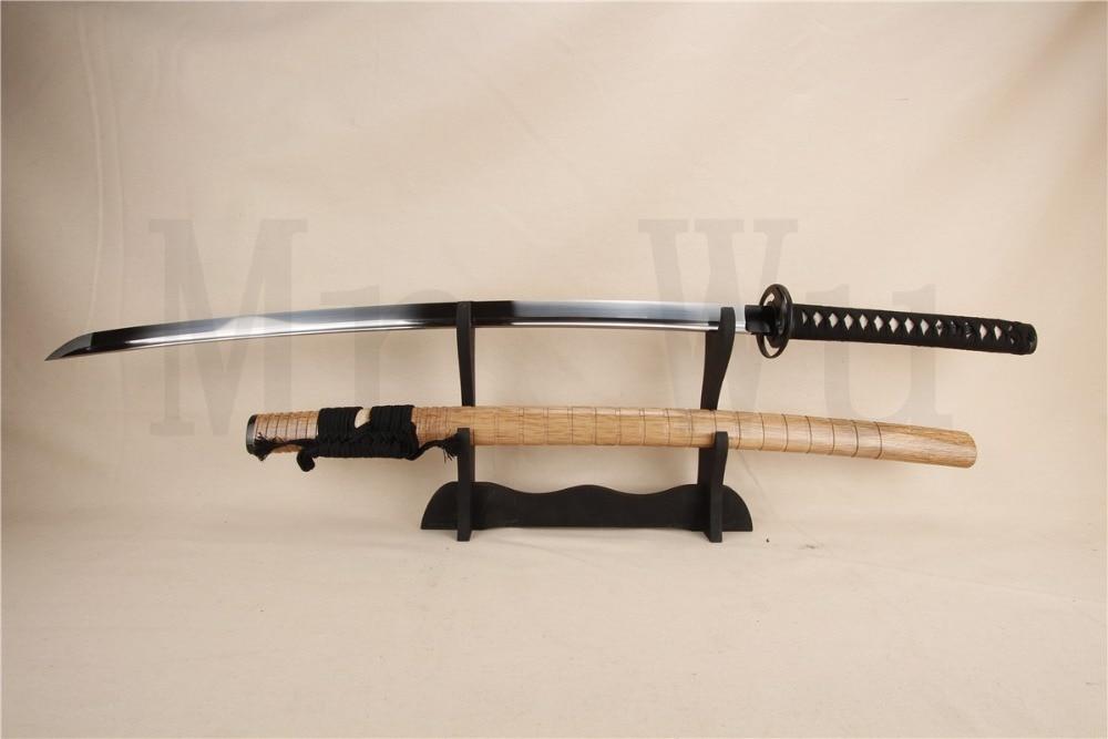 ruční katana samuraj japonský meč boj samurajský nůž katana meč řemeslo dřevěné jaro ocel železo železo tsuba