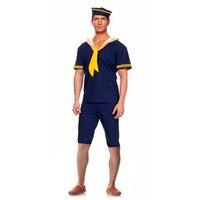Adults Men Blue Sailor Cosplay Gentleman Navy Performance Costumes Uniform Party Decoration Costume Christmas Halloween