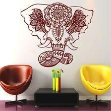 Belive Wall Decals India Mandala Elephant Buddha OM Vinyl Mural Bedroom Stickers CW-68