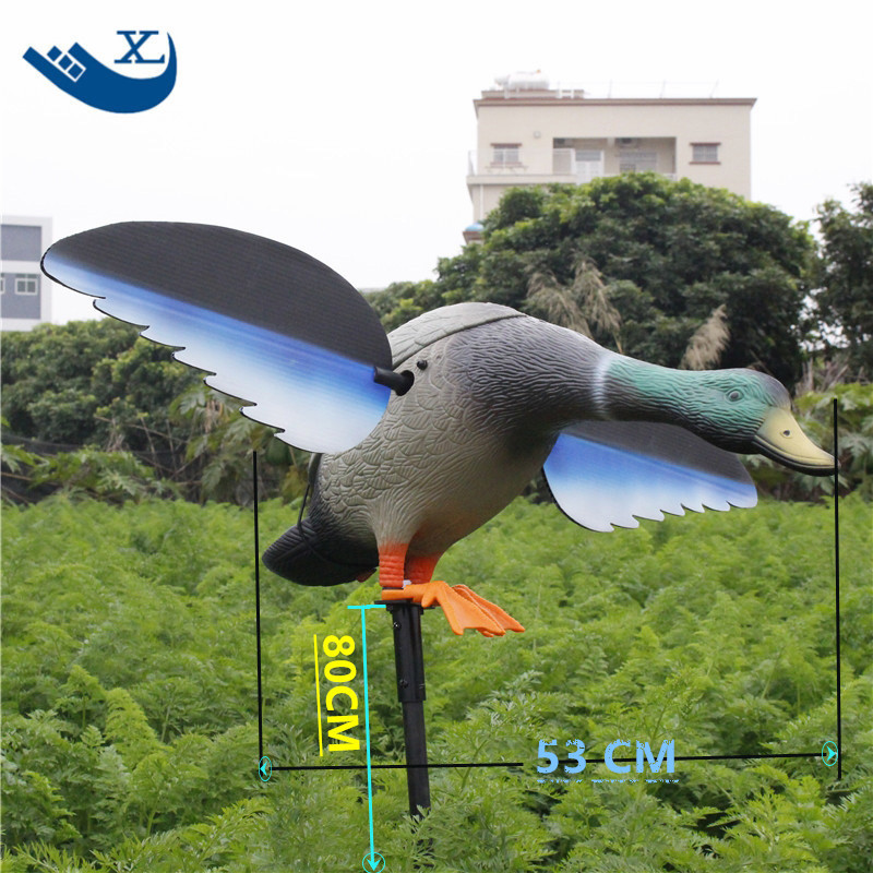 ФОТО 2017 Free Shipping Mallard 6V/12V Ducks Plastic Duck Decoy With Magnet Spinning Wings