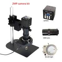 Полный VGA промышленный цифровой видео микроскоп камера + 100X c-крепление объектива для Пайки PCB ремонт контрольные инструменты