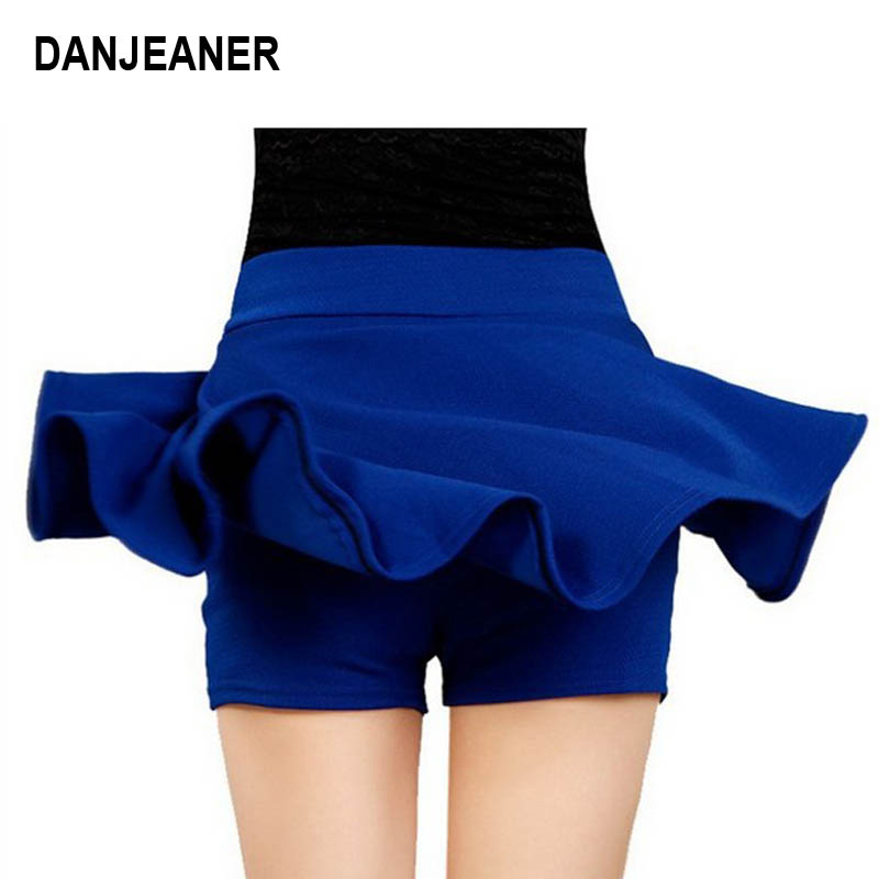 2015 Hot Women Bust Shorts Skirt Pants Pleated Plus Size Fashion Candy Color Skirts 9 Colors C718 3