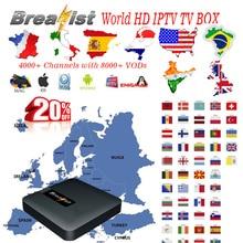 Breakist iptv subscription French Spanish Italy Turkey Canada USA Germany Brazil India UK smart Iptv Top Box Mag M3u Smart TV E2