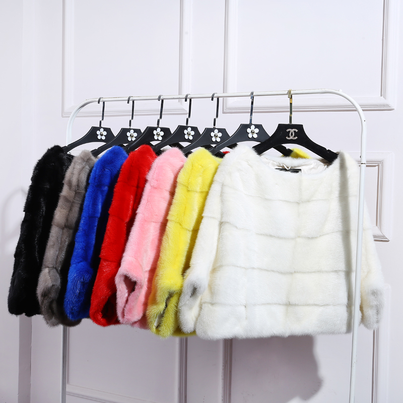 BFFUR envío gratis de visón abrigo de piel las mujeres completa de invierno de piel natural chaqueta de piel plus tamaño de cualquier color BF-P0008