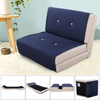 Giantex Fold Down Chair Flip Out Lounger Convertible Sleeper Bed Couch Modern Sofa Bed Living Room