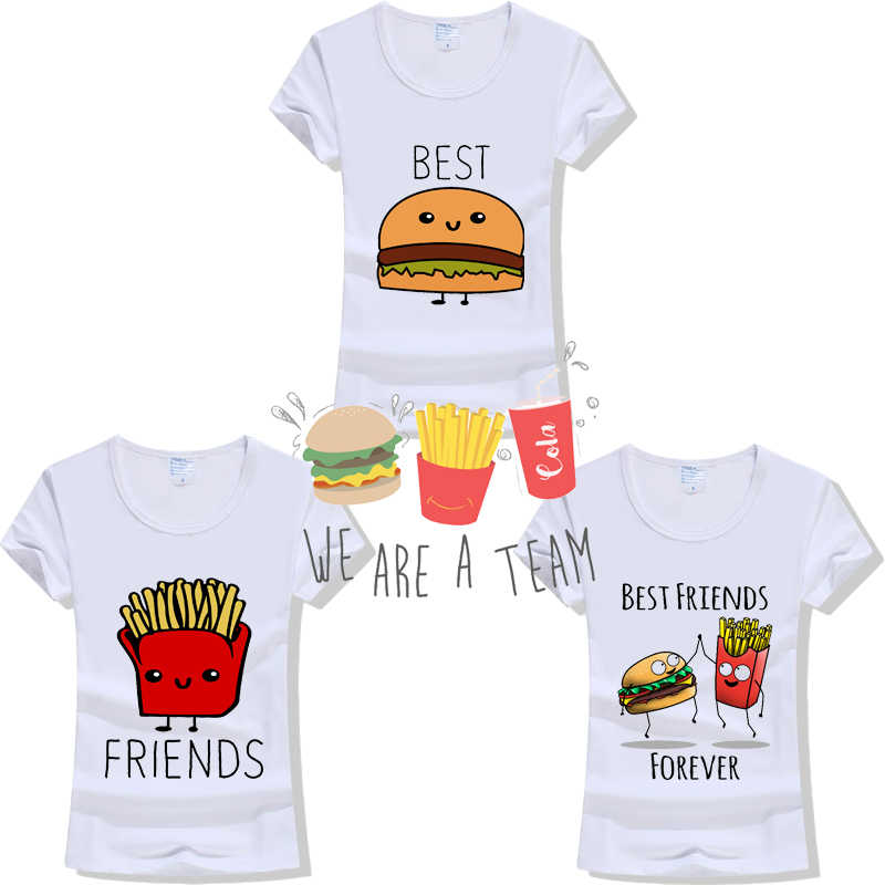 36b0d754b 2019 Women Fashion Casual O Neck BFF Short Sleeve Printed Ladies T-shirt  Hamburg Chips
