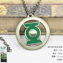 Hot Movie Green Lantern necklace Logo Enamel metal Pendant Necklace Jewelry For Men & Women