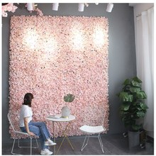 6pcs 60x40cm Artificial Hydrangea Flower Panels Wedding Backdrop Centerpieces Decorations Venue Floral Decor Fake