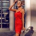 Женское Бандажное платье Ocstrade  Красное Облегающее Платье с кисточками  для вечеринок и ночных клубов  Новинка 2010