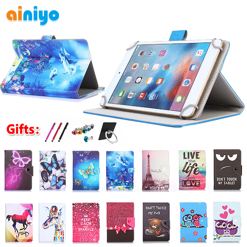 Universal Case For 10.1 Inch Tablet Prestigio MultiPad Wize 3131 3G PMT3131_3G_D Stand Magnetic PU Leather Cover + Free 3 Gifts