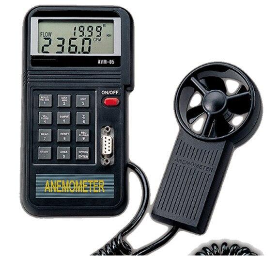 Nouveau Original haute qualité Thermo anémomètre testeur de vitesse du vent jauge de vent compteur anémomètre de débit Instruments de mesure de vitesse