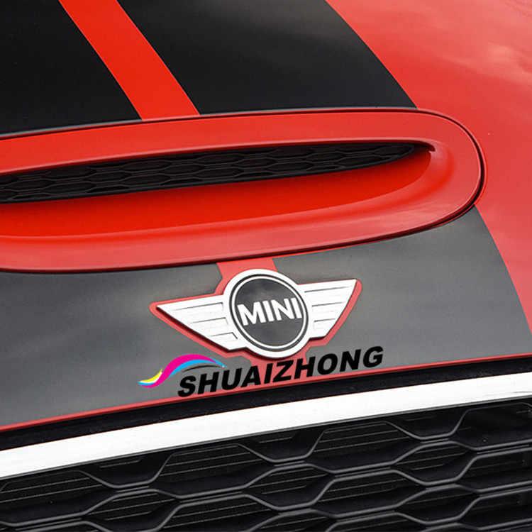 Металлический 3d Мини Автомобильный значок эмблема логотип наклейки для MINI Cooper CABRIO WORKS S Передняя крышка на голову задняя головка коробка значок наклейки