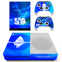Anime Sword Art Online SAO Skin Sticker For Microsoft Xbox One S Console and 2 Controllers For Xbox One S Skin Sticker