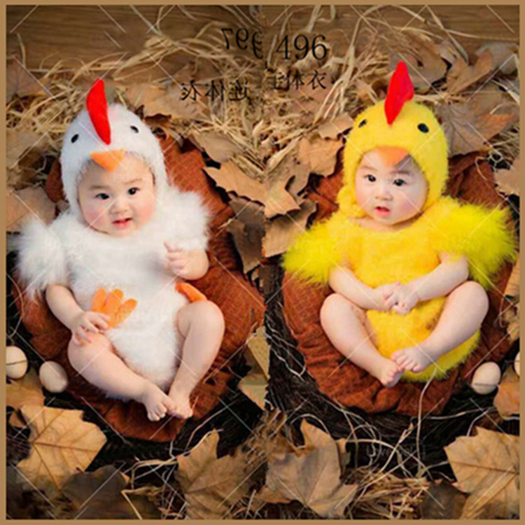 Chicken Baby Photography Suit Newborn Baby Infant Studio Shoot Costume Outfits Party Cosplay Costumes