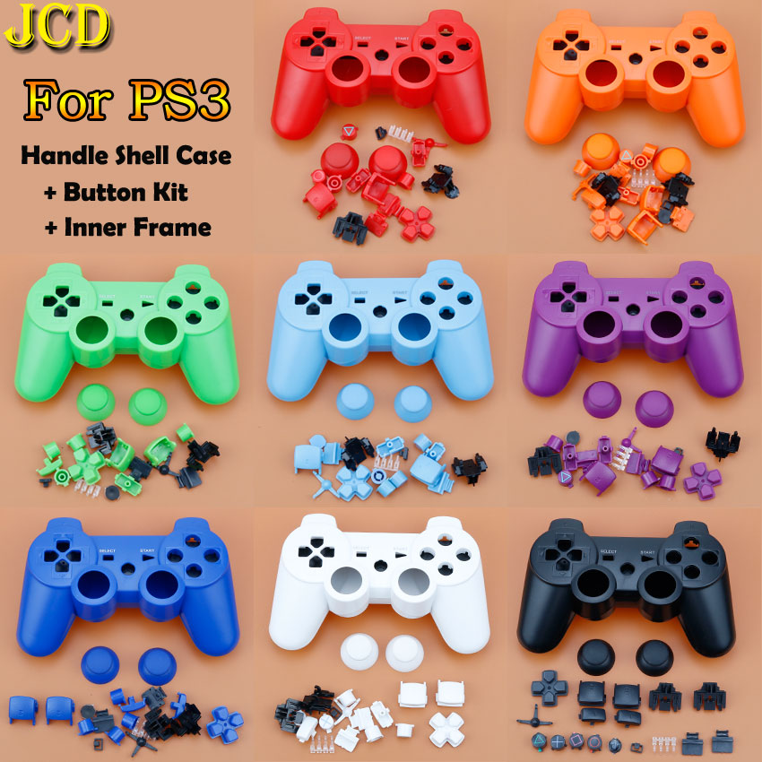 JCD For PS3 Controller Housing Shell Cover Case W/ Inner Frame Full Buttons Accesories Kit For Sony Playstion 3