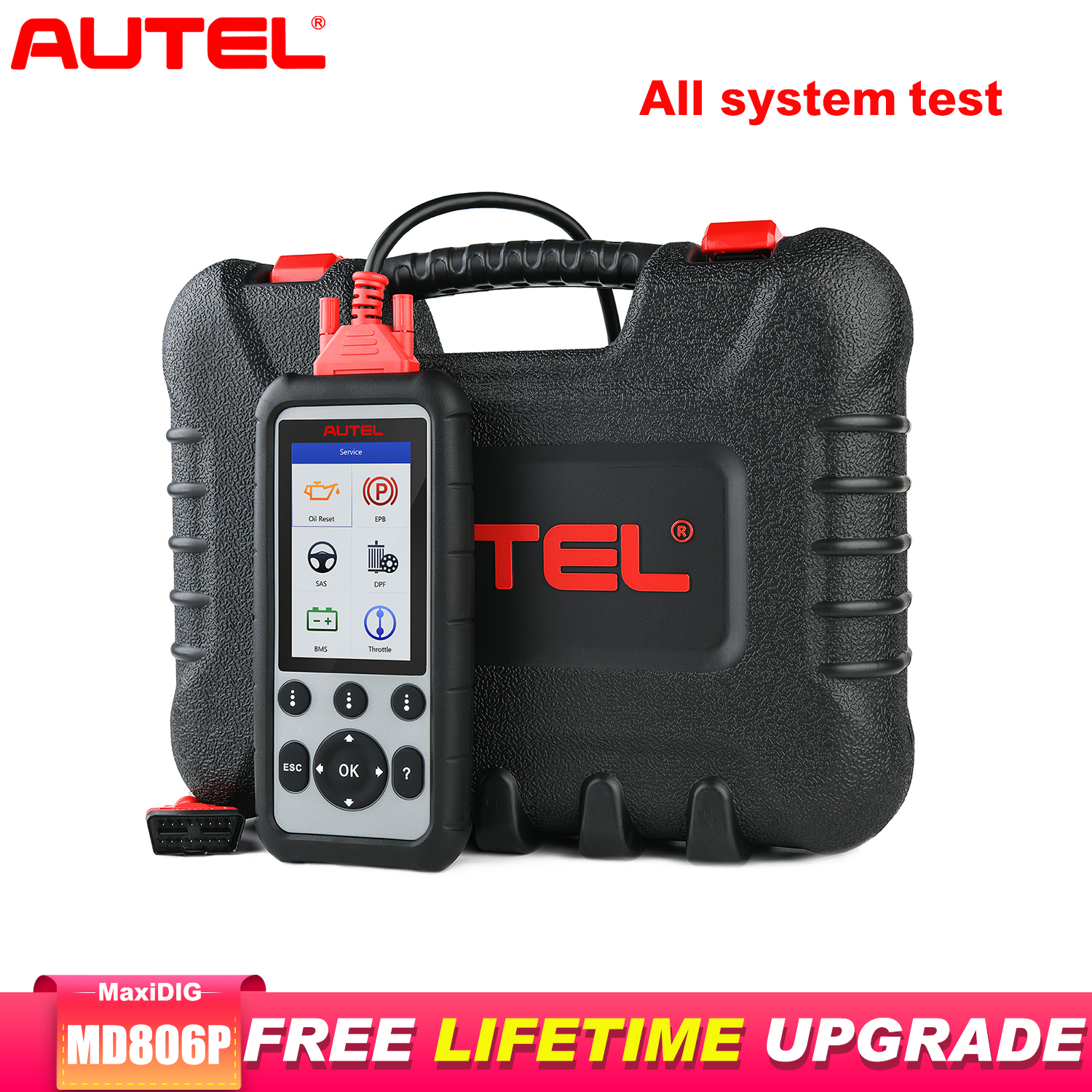 Autel MD806PRO Car Diagnostic Diagnostic AutoTool OBD2 Scanner Full System Code Reader better than LaunchX431 Autel MD805/MD802 image