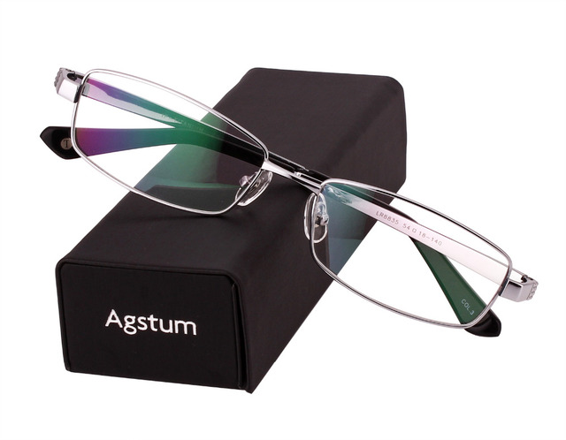666c3040d32 Agstum 100% Pure Titanium Spectacles Men Full Rim Optic Eyeglass Frame  eyewear Rx 8835
